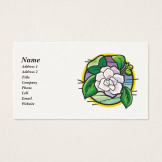 Cartes de visite de rose blanc pour des femmes
