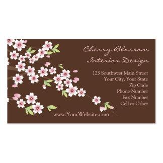 Cartes de visite de rose et de fleurs de cerisier cartes de visite personnelles