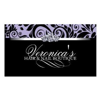 Cartes de visite de salon de cheveux et d'ongle modèle de carte de visite