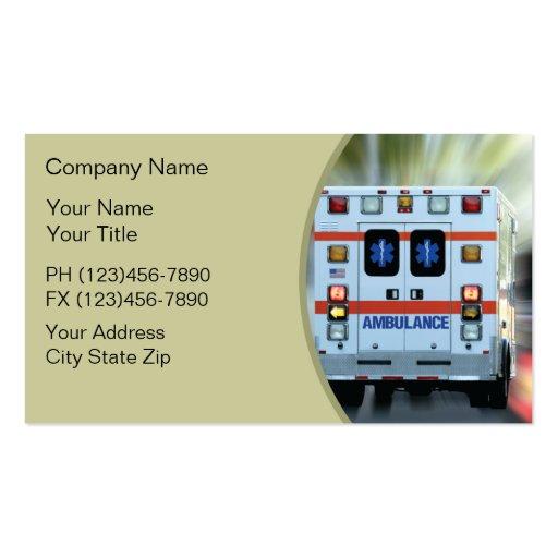 Cartes de visite de secours médical cartes de visite personnelles