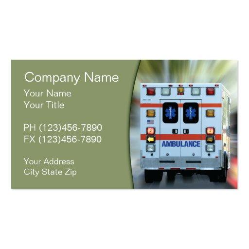 Cartes de visite de secours médical cartes de visite professionnelles