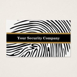 Cartes de visite de sécurité