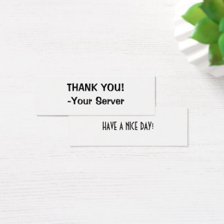 Cartes de visite de serveur