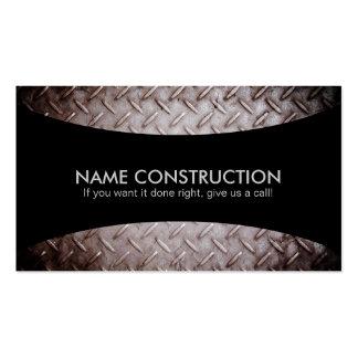 Cartes de visite de slogans de construction carte de visite standard