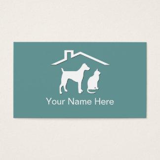 Cartes de visite de soin des animaux familiers