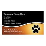 Cartes de visite de soin des animaux familiers modèle de carte de visite