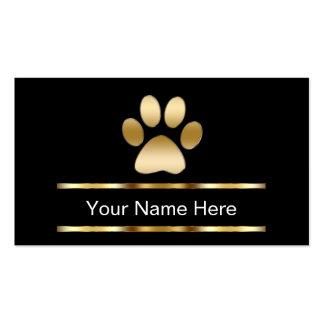 Cartes de visite de soin des animaux familiers carte de visite standard
