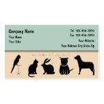 Cartes de visite de soin des animaux familiers fix modèles de cartes de visite