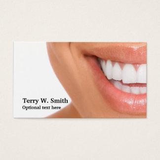Cartes de visite de sourire d'hygiéniste de