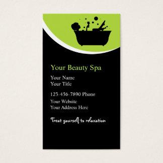 Cartes de visite de spa de beauté