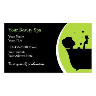 Cartes de visite de spa de beauté cartes de visite professionnelles