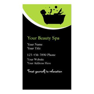 Cartes de visite de spa de beauté modèle de carte de visite