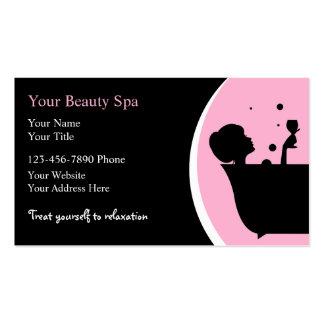 Cartes de visite de spa de beauté carte de visite standard
