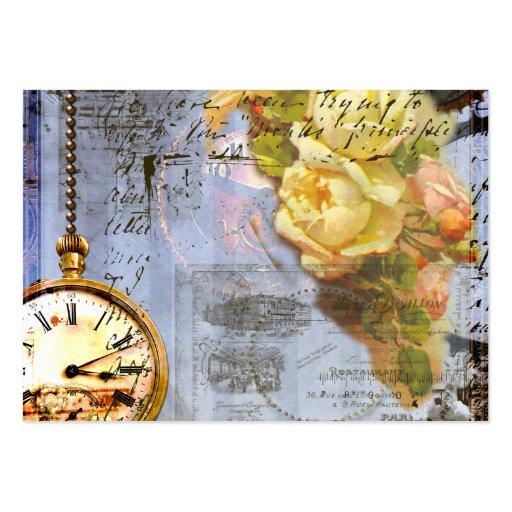 Cartes de visite de Steampunk de roses jaunes Cartes De Visite Personnelles