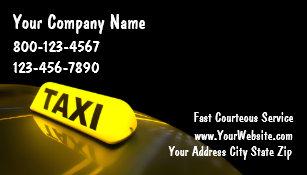 Cartes De Visite Taxi