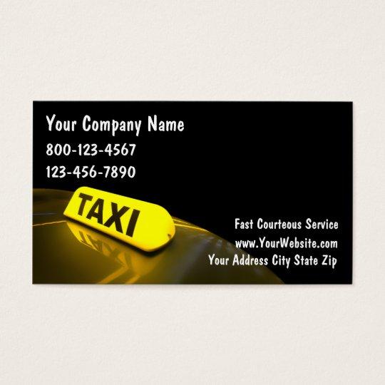 Cartes de visite de taxi