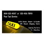 Cartes de visite de taxi carte de visite