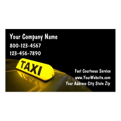 Cartes de visite de taxi cartes de visite personnelles
