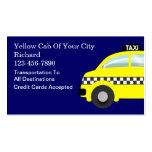 Cartes de visite de taxi modèle de carte de visite
