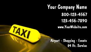 Cartes De Visite Taxi Nouveaux
