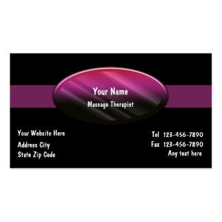 Cartes de visite de thérapeute de massage cartes de visite professionnelles
