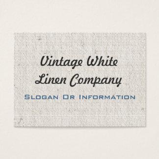 Cartes de visite de toile blancs vintages