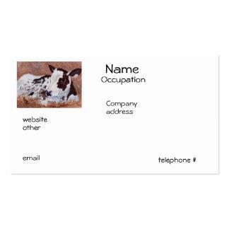 Cartes de visite de vache à bébé carte de visite standard