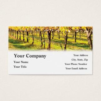 Cartes de visite de vignoble de restaurant de vin