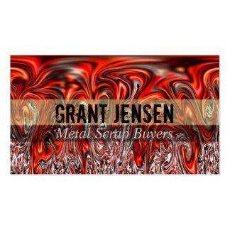 Cartes de visite débordants d'un rouge ardent en m carte de visite standard