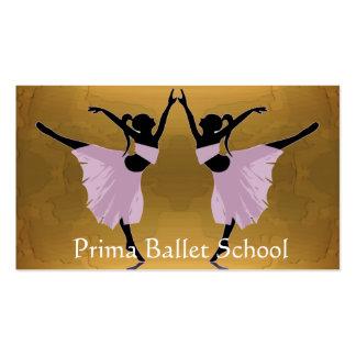 cartes de visite d'école de ballet ou de danse cartes de visite personnelles