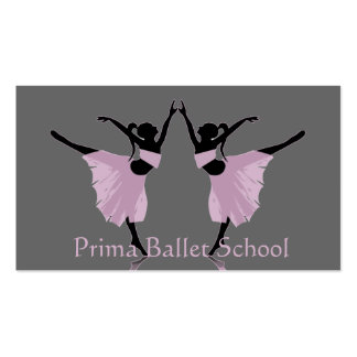 cartes de visite d'école de ballet ou de danse modèles de cartes de visite