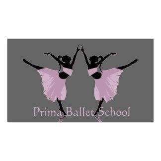 cartes de visite d'école de ballet ou de danse cartes de visite professionnelles