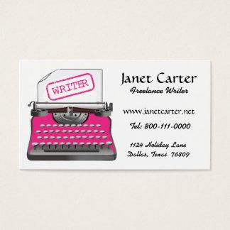Cartes de visite d'écrivain indépendant/guépard