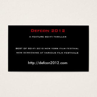 Cartes De Visite Defcon 2012, un THRILLER de la SCIENCE FICTION de