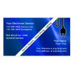 Cartes de visite d'électricien modèle de carte de visite
