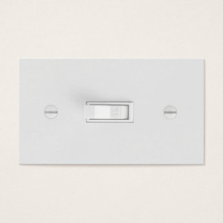 Cartes de visite d'électricien (interrupteur de