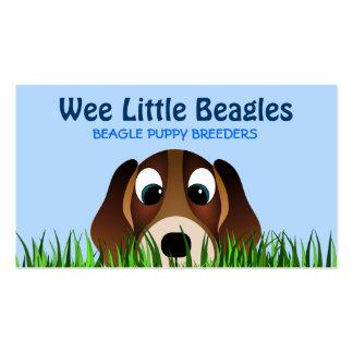 Cartes de visite d'éleveurs de chiot de beagle carte de visite standard