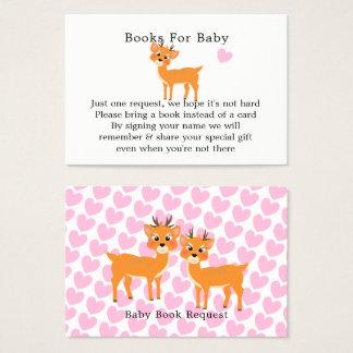 Cartes De Visite Demande fantaisie de livre de baby shower d'hiver