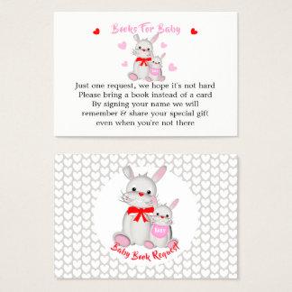 Cartes De Visite Demande mignonne fantaisie de livre de baby shower