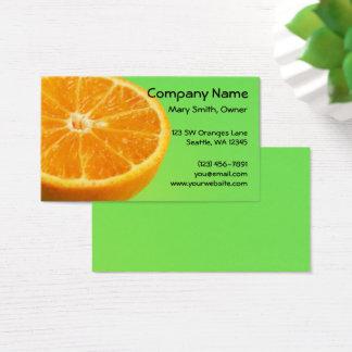 Cartes De Visite Demi de tranche de fruit orange