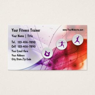 Cartes de visite d'entraîneur de forme physique