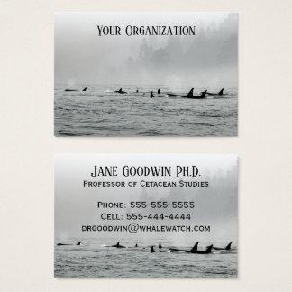 Cartes De Visite Dépassement des baleines