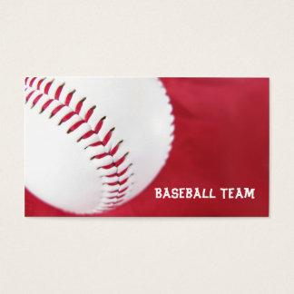 Cartes de visite d'équipe de baseball