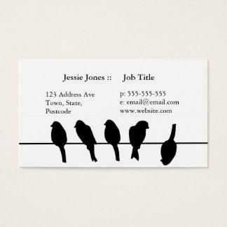 Cartes De Visite Des oiseaux sur un fil - osez être différent