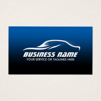 Cartes De Visite Des véhicules à moteur bleu détaillant automatique