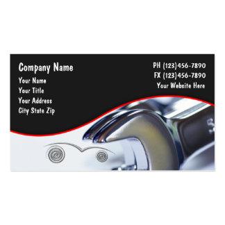 Cartes de visite des véhicules à moteur cartes de visite personnelles