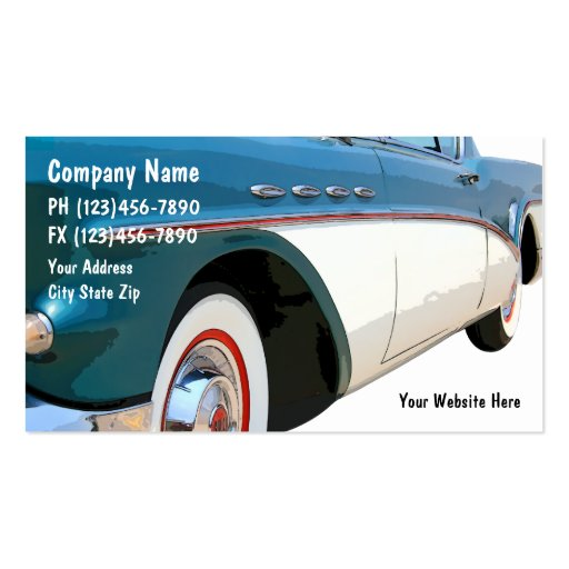Cartes de visite des véhicules à moteur modèles de cartes de visite
