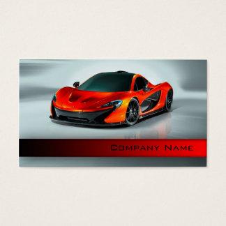 Cartes De Visite Des véhicules à moteur/emballage/coureur rouge