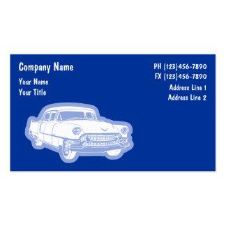 Cartes de visite des véhicules à moteur rétros modèles de cartes de visite