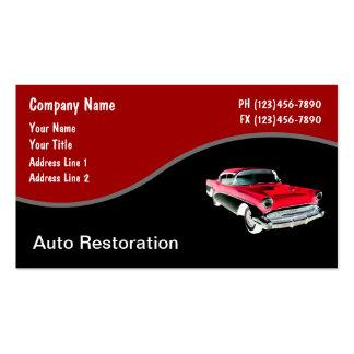 Cartes de visite des véhicules à moteur rétros cartes de visite professionnelles